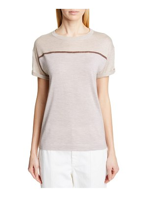 Brunello Cucinelli monili trim cashmere & silk sweater