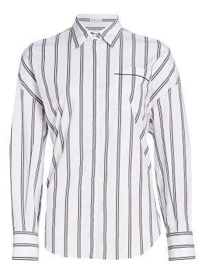 Brunello Cucinelli monili trim striped button-down shirt
