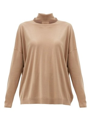 Brunello Cucinelli monili trim wool-blend sweater