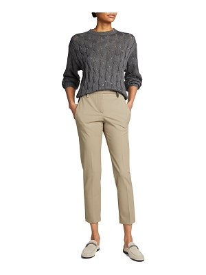 Brunello Cucinelli Paillette Embellished Cable-Knit Sweater