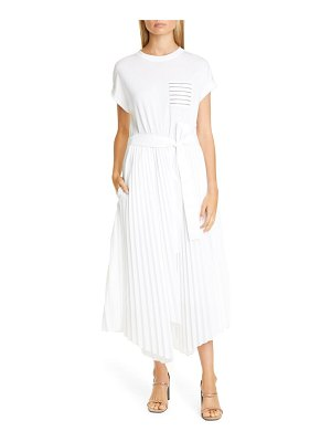 Brunello Cucinelli pleated skirt asymmetrical midi dress