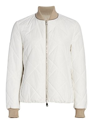 Brunello Cucinelli quilted bomber jacket