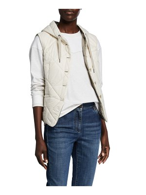 Brunello Cucinelli Quilted Taffeta Button-Front Shirt