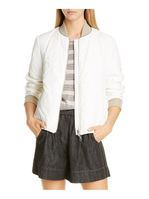Brunello Cucinelli reversible quilted bomber jacket
