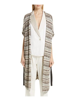 Brunello Cucinelli sequin stripe cardigan