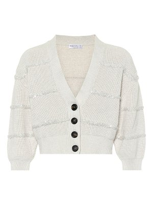 Brunello Cucinelli Sequined cotton cardigan