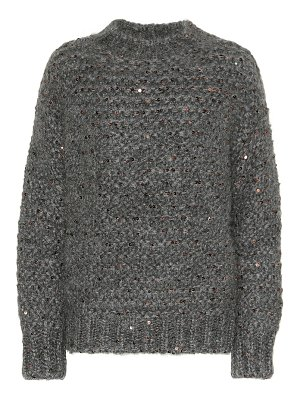 Brunello Cucinelli Sequined mohair-blend sweater