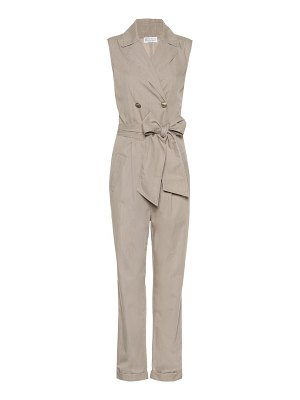 Brunello Cucinelli Sleeveless cotton jumpsuit