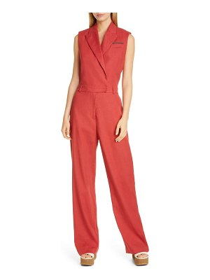 Brunello Cucinelli sleeveless linen & cotton jumpsuit