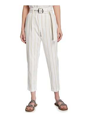 Brunello Cucinelli Stripe Print Belted Pants