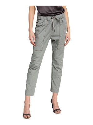 Brunello Cucinelli Washed Lightweight Drill Trackpants
