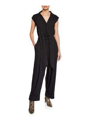 Brunello Cucinelli Wool V-Neck Jumpsuit