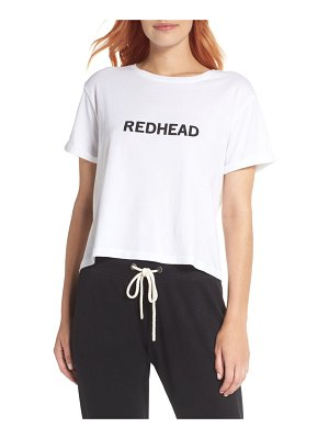 BRUNETTE the Label redhead crop tee