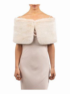 bubish sofia faux fur shrug