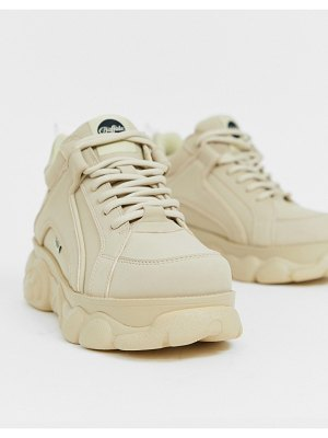 Buffalo colby exclusive low platform chunky sneakers in cream