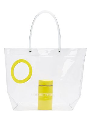 Building Block Exclusive Yellow Transparent Vinyl Peephole Tote