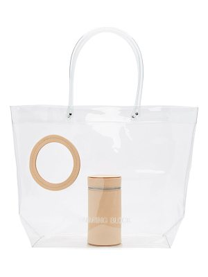 Building Block Transparent Vinyl Peephole Tote