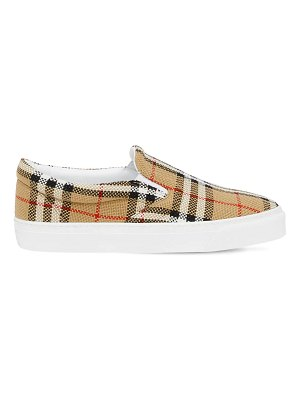 Burberry 20mm thompson check slip on sneakers