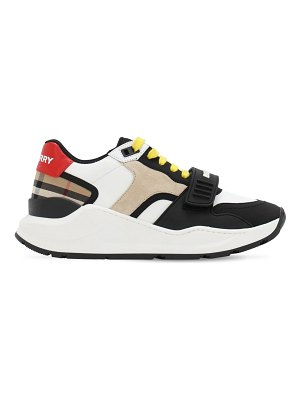 Burberry 55mm ramsey nylon & suede sneakers