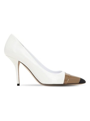 Burberry 90mm annalise leather pumps
