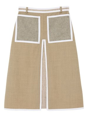 Burberry a-line wool & cashmere skirt