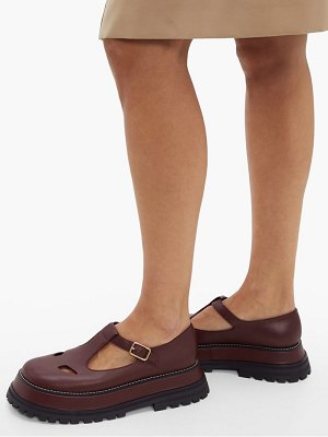 Burberry aldwych flatform leather dolly loafers