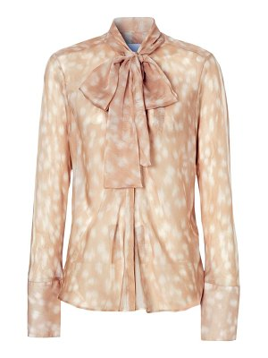 Burberry amelie deer print pussybow blouse