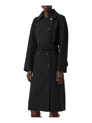 Burberry amersham double face cashmere trench coat