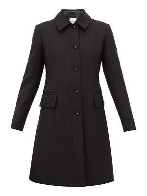 Burberry angus single breasted wool blend coat