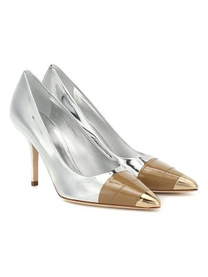 Burberry annalise metallic leather pumps