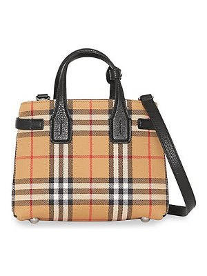 Burberry baby banner vintage check leather satchel
