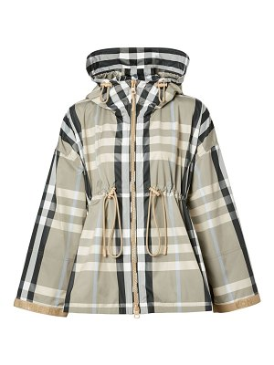 Burberry bacton light weight check jacket