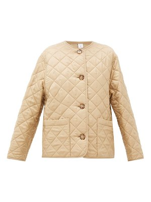 Burberry bardsey quilted logo-jacquard twill jacket