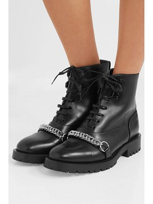 Burberry barke chain-trimmed leather ankle boots