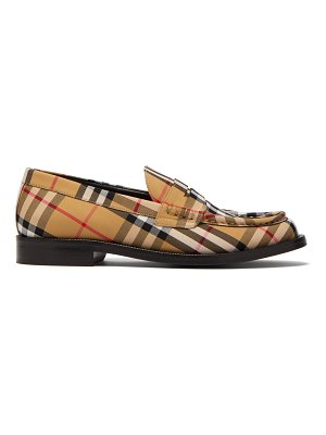 Burberry Bedmont Vintage-check loafers