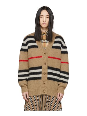 Burberry beige mohair striped cardigan