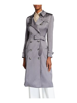 Burberry Boscastle Belted Silk Trench Coat