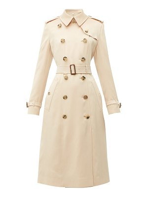 Burberry bostcastle double breasted silk trench coat