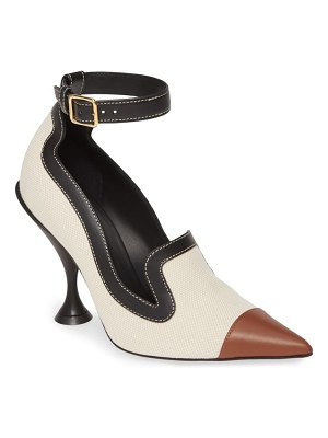 Burberry brecon ankle strap pointed toe pump