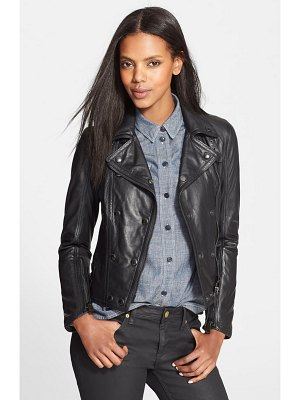 Burberry Brit 'isleigh' lambskin leather jacket