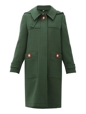 Burberry bulford hooded wool-twill duffle coat