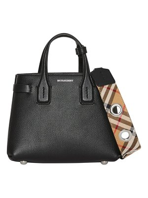 Burberry burberrry baby banner leather satchel