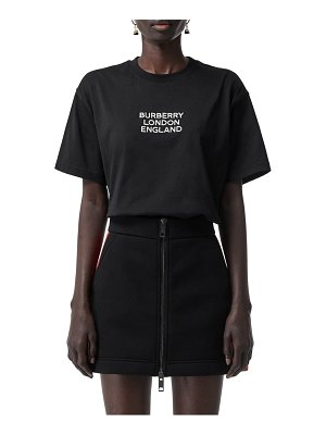 Burberry carrick logo embroidered tee