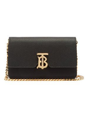 Burberry carrie tb-monogram leather cross-body bag