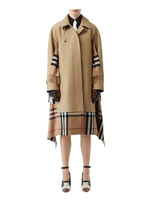 Burberry Cashmere Check-Inset Car Coat