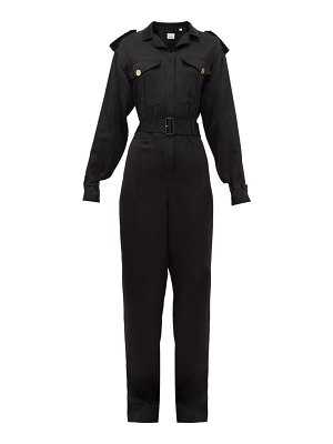 Burberry catalina mulberry-silk jumpsuit