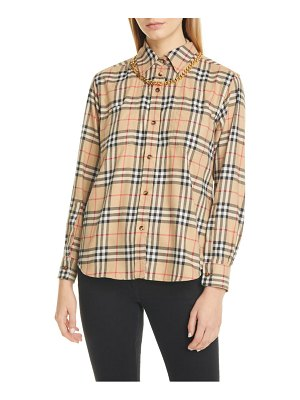 Burberry chain detail vintage check flannel shirt