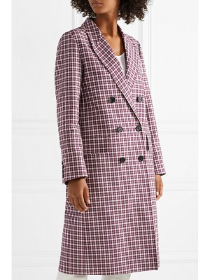 Burberry checked cotton-blend coat