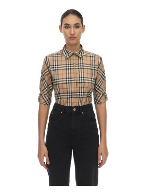 Burberry Checked stretch cotton blend shirt