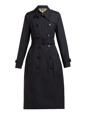 Burberry chelsea belted double breasted cotton trench coat
